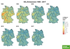 Gridded SO2 emissions from 1990 until 2017