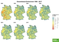 Gridded TSP emissions from 1990 until 2017